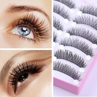 10 Pairs/Box Cross Criss Handmade False Eyelash Long Curly Trail Fake Eye Lash Eye Makeup Cosmetic