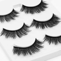 BONNIE CHOICE 3 Pairs 3D False Eyelashes Thick Natural Simulation Reusable False Eyelash Makeup Quality and affordable cosmetics