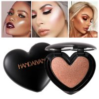 Bronzer Highlighter Face Cosmetics Heart Shaped Pressed Powder Highlight Brighten Skin Contour