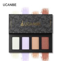 UCANBE 4 Colors Glow Highlighter Makeup Palette Set Aurora Polarization Shadow Powder Long Lasting Face Cosmetics Kit