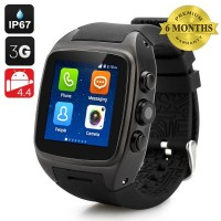 iMacwear SPARTA M7 Smart Watch Phone – IP67 Waterproof Rating, 1.54 Inch Touch Screen, Android 4.4 OS, Dual Core CPU