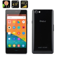 iNew U3 4.5 Inch Android 5.1 Smartphone – Quad Core CPU, Dual SIM 4G, Smart Wake, OTG (Black)