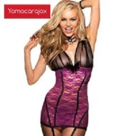 Sexy Erotic Dress Purple G-string  Babydoll Lingerie
