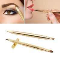 1 Pc Retractable Lip Brush Professional Cosmetic Brush Dual-ended Portable Concealer Lipstick Brush