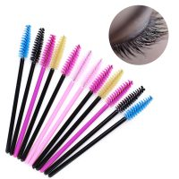 50 Pcs Disposable Eyelash Wands Brush Basic Mini Eye Makeup Eyebrow Comb Mascara Makeup Tool