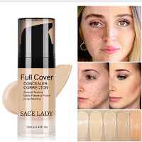 SACE LADY Face Concealer Cream Full Cover Makeup Liquid Corrector Waterproof Base