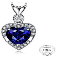 Heart 1.5ct Authentic Black Spinel Pendant Necklace 925 Sterling Silver
