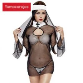 Sexy Nun Transparent  Halloween Costume